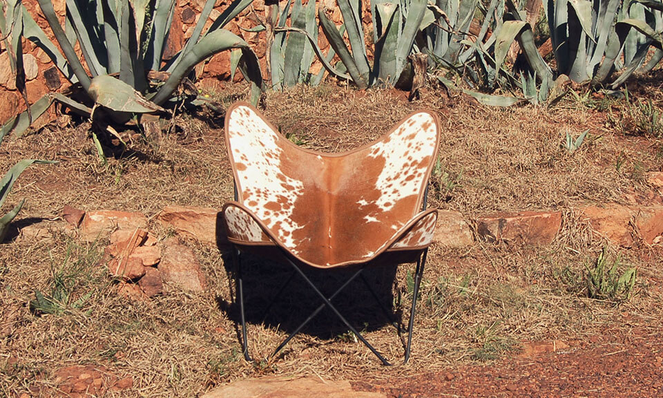 Nguni Skin Butterfly Chairs